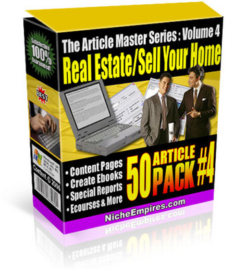 Product picture Real Estate & Selling Your Home Articles