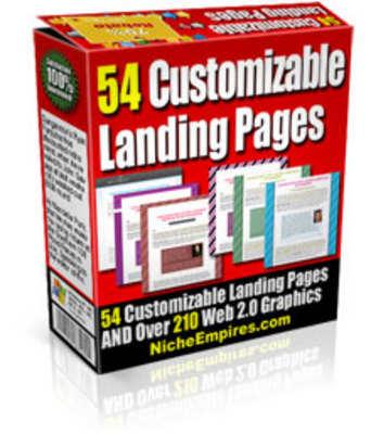 Product picture 54 Customizable Landing Pages